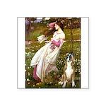 Windflowers & Boxer Square Sticker 3