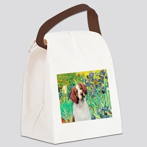 Irises/Brittany Canvas Lunch Bag