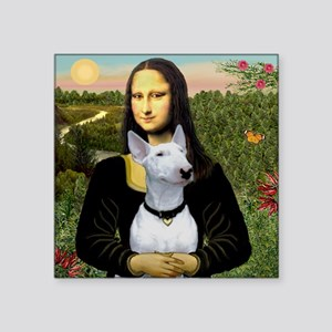 "Mona's Bull Terrier Square Sticker 3"" x 3"""