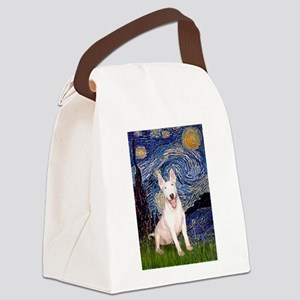 Starry/Bull Terrier (#4) Canvas Lunch Bag