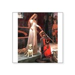 The Accolade Bull Terrier Square Sticker 3