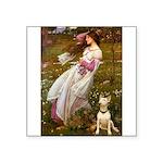 Windflowers Bull Terrier Square Sticker 3