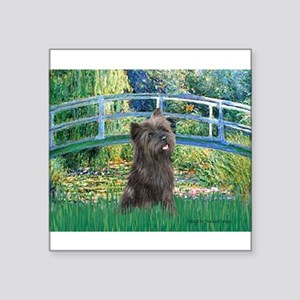 "Bridge /Cairn Terrier (w) Square Sticker 3"" x 3"""