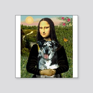 "Mona's Catahoula Leopard Square Sticker 3"" x 3"""