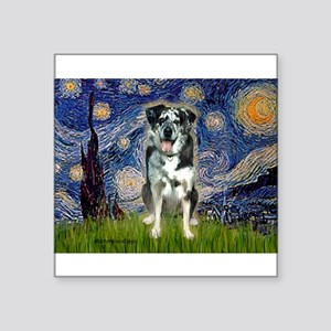 "Starry / Catahoula Leopard Dog Square Sticker 3"" x"