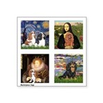 Cavalier Famous Art (clr) Square Sticker 3