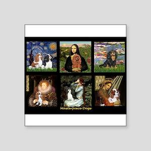 """Cavalier Famous Art Comp1 Square Sticker 3"""" x 3"""""""