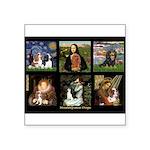 Cavalier Famous Art Comp1 Square Sticker 3