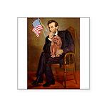 Lincoln's Ruby Cavalier Square Sticker 3