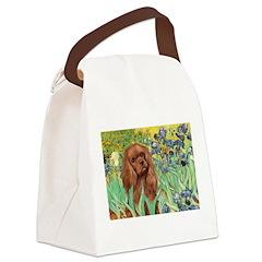 Irises & Ruby Cavalier Canvas Lunch Bag