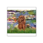 Lilies and Ruby Cavalier Square Sticker 3