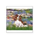 Lilies2 & Cavalier Square Sticker 3