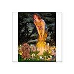 Fairies & Ruby Cavalier Square Sticker 3