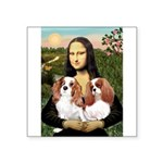 Mona's 2 Cavaliers Square Sticker 3
