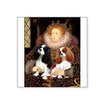 The Queens Cavalier Pair Square Sticker 3