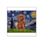 Starry Night Ruby Cavalier Square Sticker 3