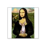 Mona's fawn/red Chihuahua Square Sticker 3