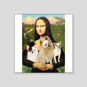 """Mona / 3 Chihs Square Sticker 3"""" x 3"""""""
