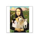 Mona / 3 Chihs Square Sticker 3