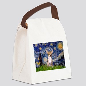 Starry Night Chihuahua Canvas Lunch Bag