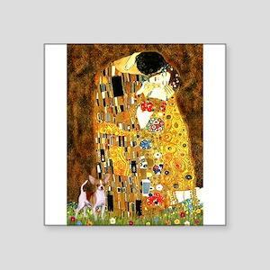 "The Kiss & Chihuahua Square Sticker 3"" x 3"""