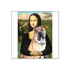 Mona Lisa's Shar Pei (#5) Square Sticker 3