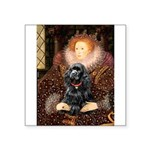 Queen / Cocker Spaniel (blk) Square Sticker 3