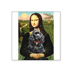 Mona's Black Cocker Spaniel Square Sticker 3