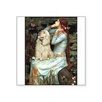 Ophelia / Cocker Spaniel (buff) Square Sticker 3