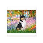 Garden / Collie Square Sticker 3
