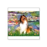 Lilies (2)/Collie (1S) Square Sticker 3