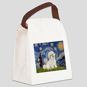Starry / Coton de Tulear (#7) Canvas Lunch Bag