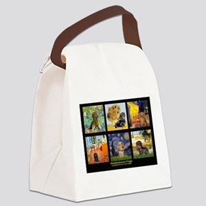 Dachshund Famous Art 1 Canvas Lunch Bag