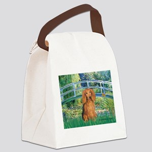 Bridge & Doxie (LH-Sable) Canvas Lunch Bag