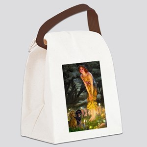 Fairies / Dachshund Canvas Lunch Bag