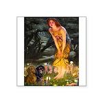 Fairies / Dachshund Square Sticker 3