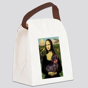 Mona / Dachshund (wire) Canvas Lunch Bag