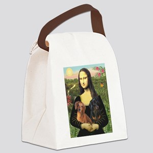 Mona Lisa's Dachshunds Canvas Lunch Bag