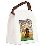 Spring / Dachshund Canvas Lunch Bag
