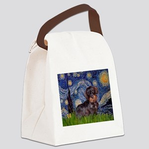 Starry Night Dachshund (Wire) Canvas Lunch Bag