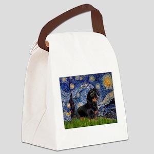 Starry Night Dachshund Canvas Lunch Bag