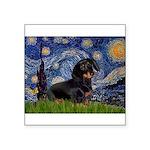 Starry Night Dachshund Square Sticker 3