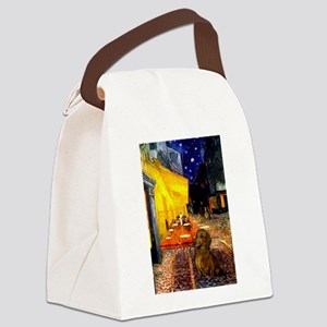 Cafe /Dachshund Canvas Lunch Bag