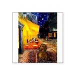 Cafe /Dachshund Square Sticker 3