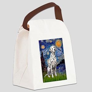 Starry / Dalmatian #1 Canvas Lunch Bag