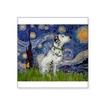 Starry Night / Dalmation Square Sticker 3