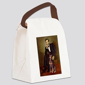 Lincoln's Red Doberman Canvas Lunch Bag