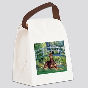 Bridge / Doberman Canvas Lunch Bag