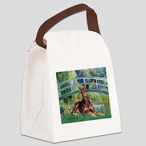 Bridge / Doberman Canvas Lunch Bag