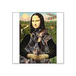 Mona's 2 Dobies Square Sticker 3